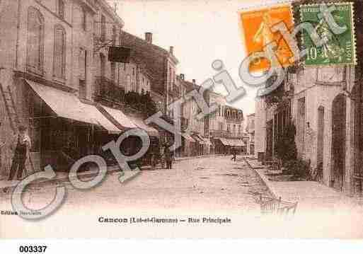 Ville de CANCON, carte postale ancienne