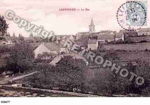 Ville de LEFFONDS, carte postale ancienne