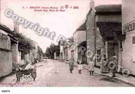 Ville de BRICON, carte postale ancienne