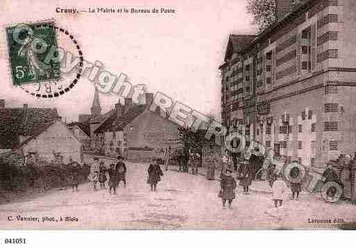 Ville de CROUYSURCOSSON, carte postale ancienne