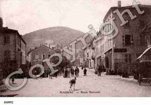 Ville de MASSIAC, carte postale ancienne