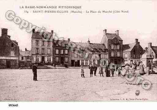 Ville de SAINTPIERREEGLISE, carte postale ancienne