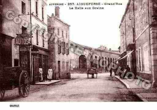 Ville de AIGUEPERSE, carte postale ancienne