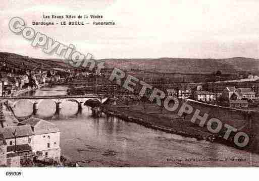 Ville de BUGUE(LE), carte postale ancienne