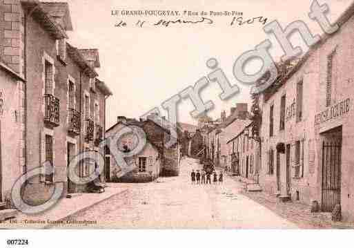 Ville de GRANDFOUGERAY, carte postale ancienne