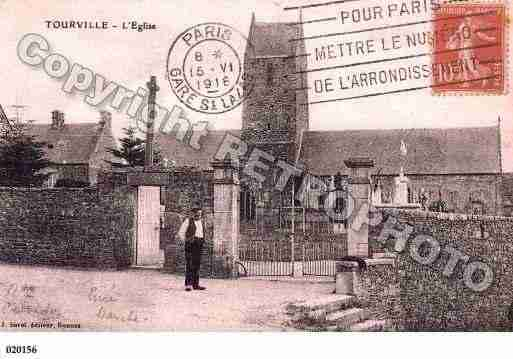 Ville de TOURVILLESURSIENNE, carte postale ancienne