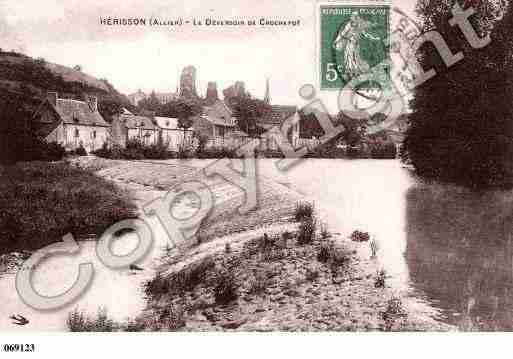 Ville de HERISSON, carte postale ancienne