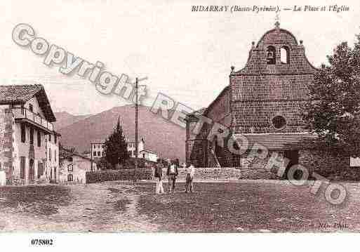 Ville de BIDARRAY, carte postale ancienne