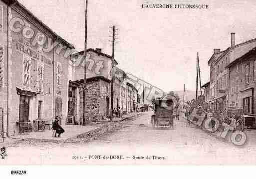 Ville de PESCHADOIRES, carte postale ancienne