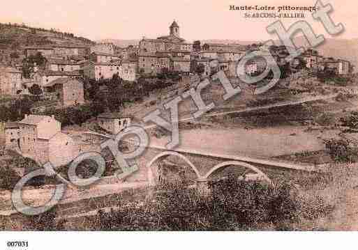 Ville de SAINTARCONSD'ALLIER, carte postale ancienne