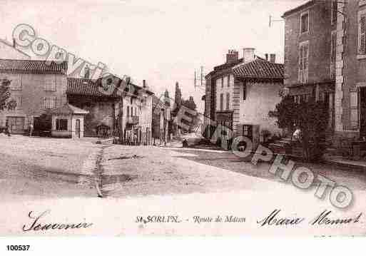 Ville de SAINTSORLIN, carte postale ancienne