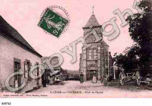 Ville de SAINTLEGERSURVOUZANCE, carte postale ancienne