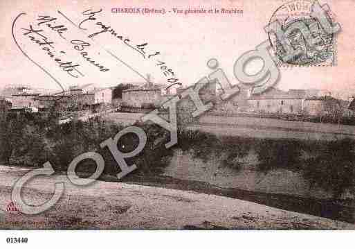 Ville de CHAROLS, carte postale ancienne