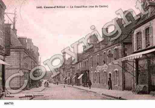 Ville de COSNED'ALLIER, carte postale ancienne