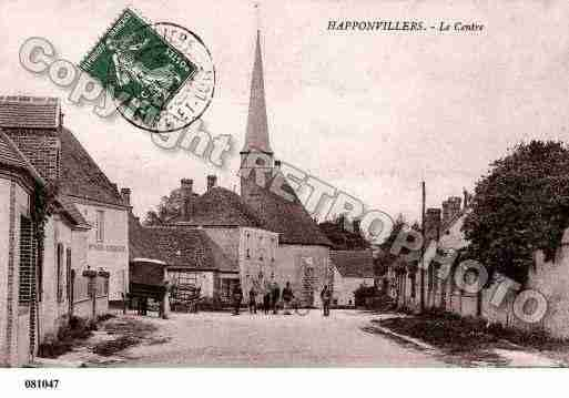 Ville de HAPPONVILLIERS, carte postale ancienne