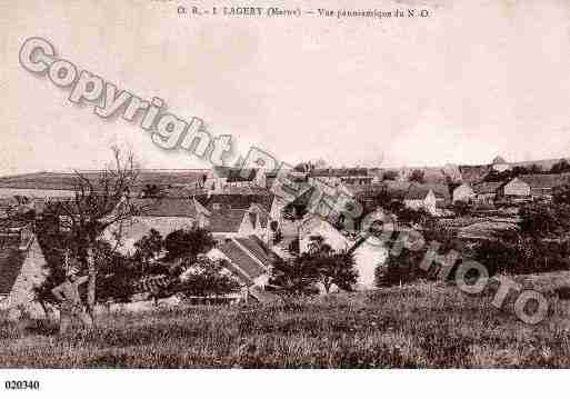 Ville de LAGERY, carte postale ancienne