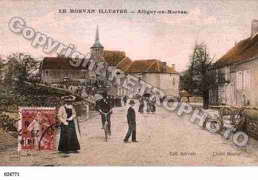 Ville de ALLIGNYENMORVAN, carte postale ancienne