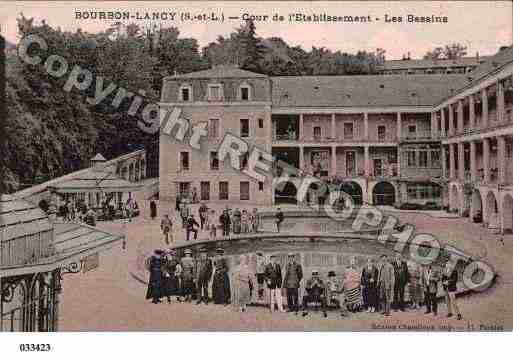 Ville de BOURBONLANCY, carte postale ancienne