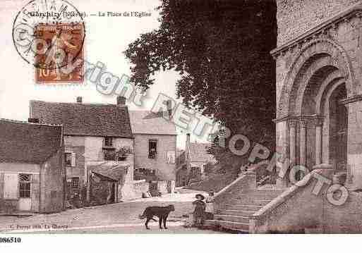 Ville de GARCHIZY, carte postale ancienne