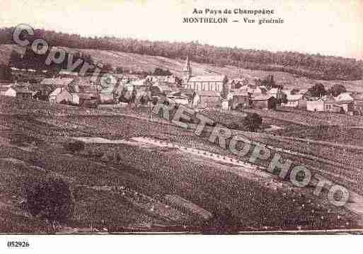 Ville de MONTHELON, carte postale ancienne