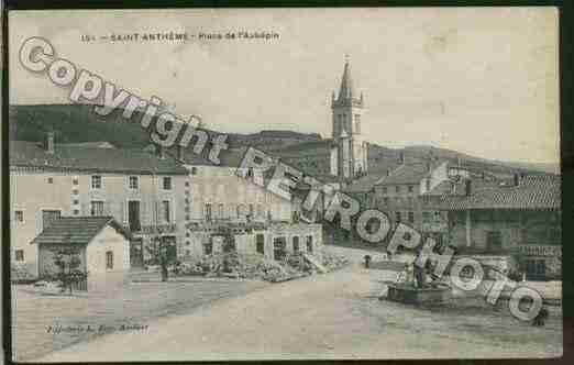 Ville de SAINTANTHEME, carte postale ancienne