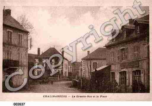 Ville de CHALINARGUES, carte postale ancienne
