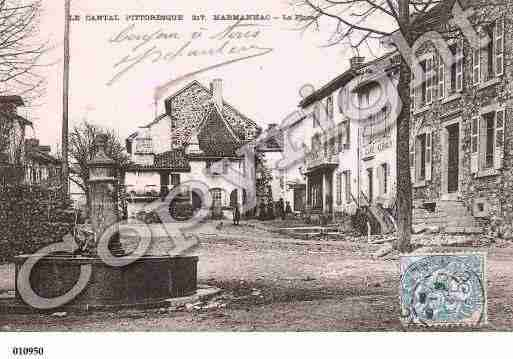 Ville de MARMANHAC, carte postale ancienne