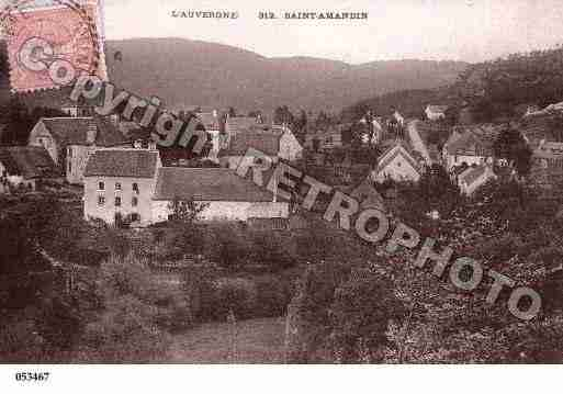 Ville de SAINTAMANDIN, carte postale ancienne