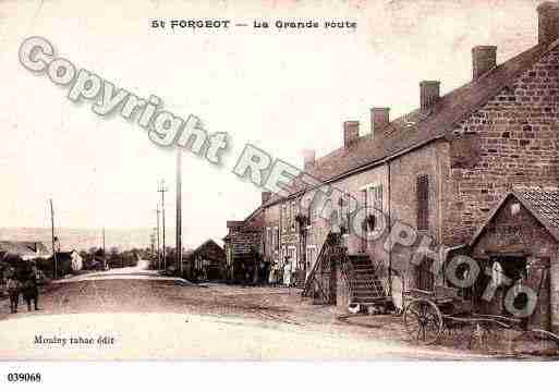 Ville de SAINTFORGEOT, carte postale ancienne