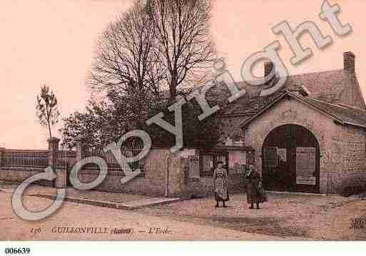 Ville de GUILLONVILLE, carte postale ancienne