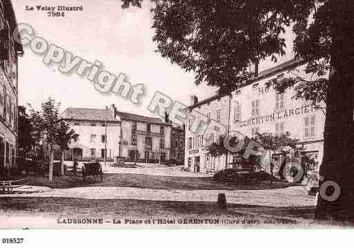 Ville de LAUSSONNE, carte postale ancienne