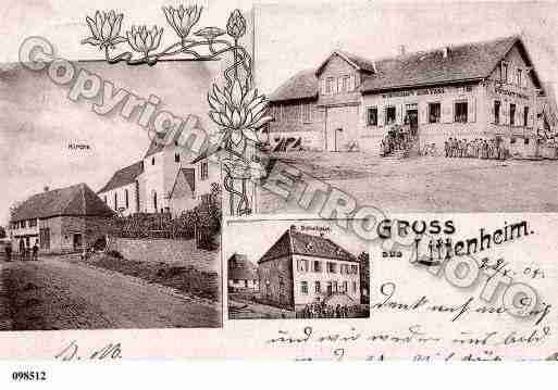 Ville de LITTENHEIM, carte postale ancienne