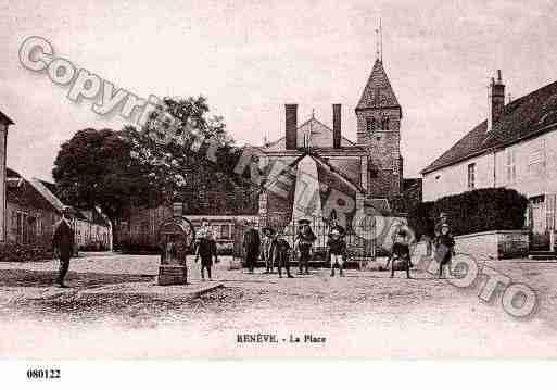 Ville de RENEVE, carte postale ancienne