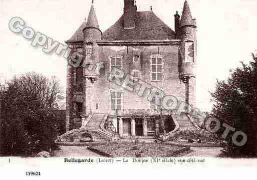 Ville de BELLEGARDE, carte postale ancienne
