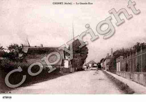 Ville de CRENEYPRESTROYES, carte postale ancienne