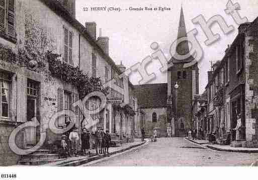 Ville de HERRY, carte postale ancienne
