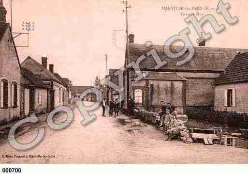 Ville de MARVILLELESBOIS, carte postale ancienne