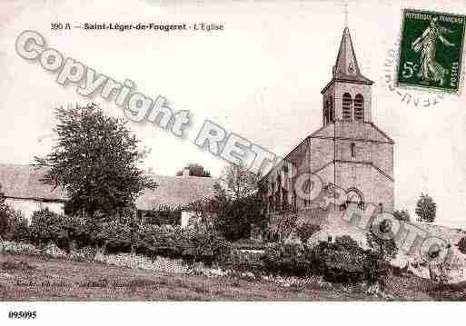 Ville de SAINTLEGERDEFOUGERET, carte postale ancienne