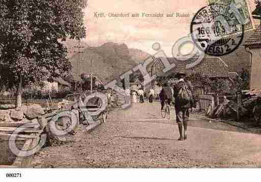 Ville de KRUTH, carte postale ancienne