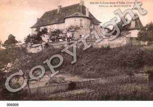 Ville de SAINTLEONSURL'ISLE, carte postale ancienne