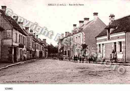 Ville de ABILLY, carte postale ancienne