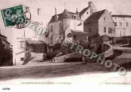 Ville de SAINTGENGOUXLENATIONAL, carte postale ancienne