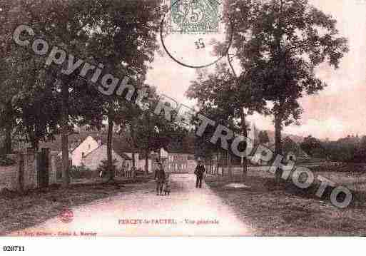 Ville de PERCEYLEPAUTEL, carte postale ancienne