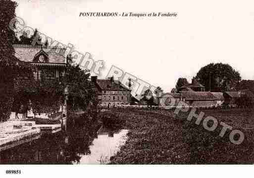 Ville de PONTCHARDON, carte postale ancienne