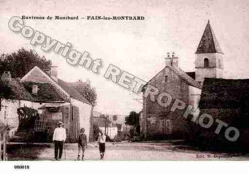 Ville de FAINLESMONTBARD, carte postale ancienne