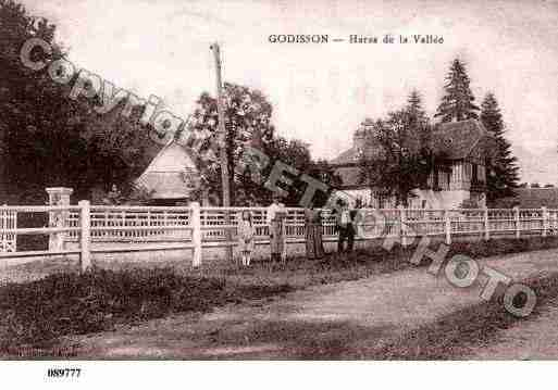 Ville de GODISSON, carte postale ancienne
