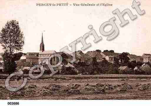 Ville de PERCEYLEPETIT, carte postale ancienne