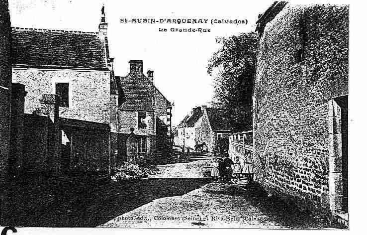 Ville de SAINTAUBIND'ARQUENAY, carte postale ancienne