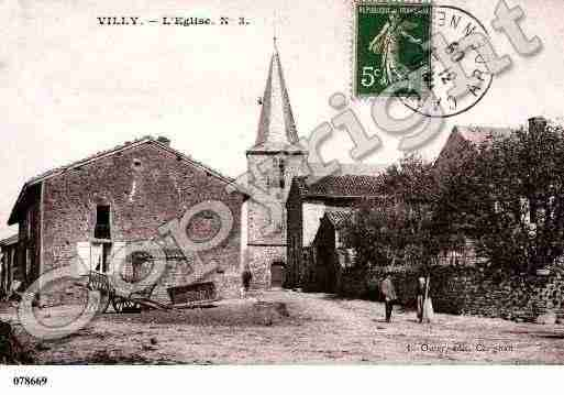 Ville de VILLY, carte postale ancienne