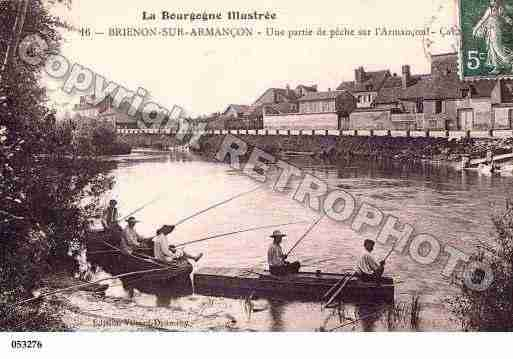 Ville de BRIENONSURARMANCON, carte postale ancienne
